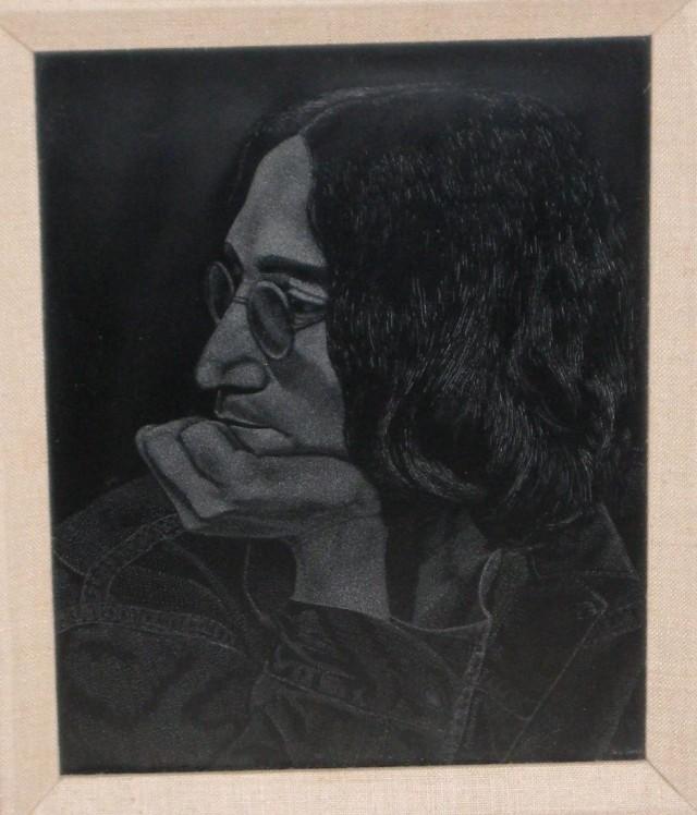 scratch board of John Lennon
