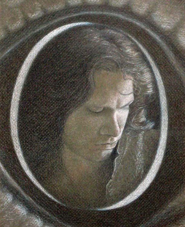 lizard king, colored pencil portrait of Jim Morrison